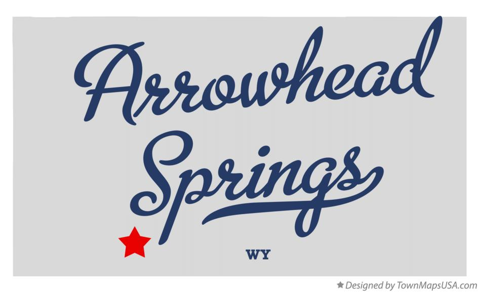 Map of Arrowhead Springs Wyoming WY