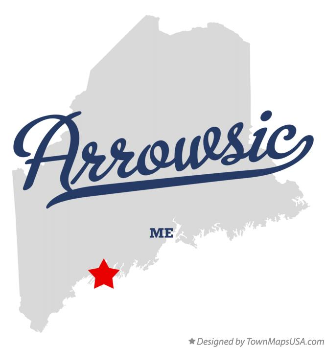 Map of Arrowsic Maine ME
