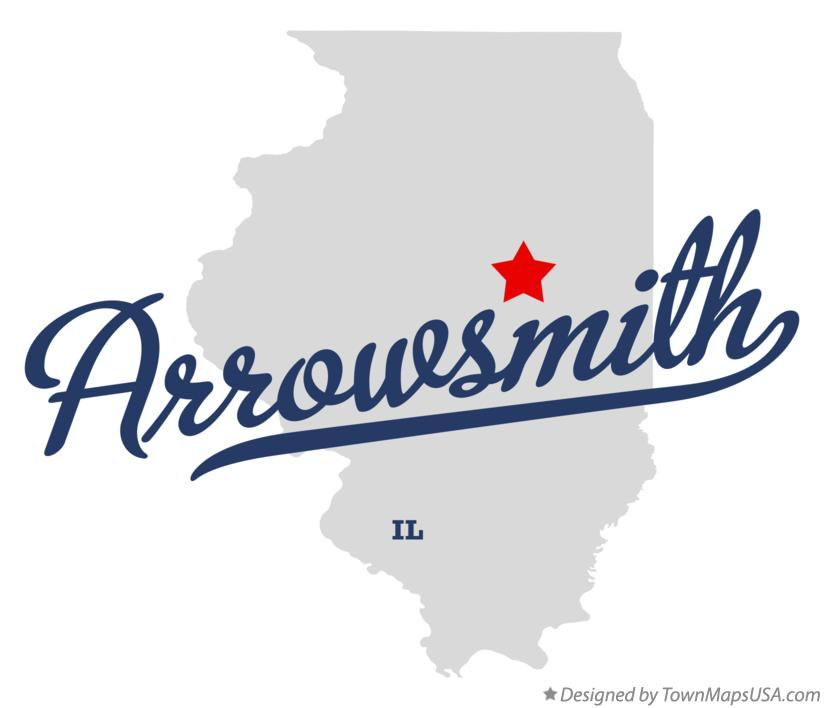 Map of Arrowsmith Illinois IL