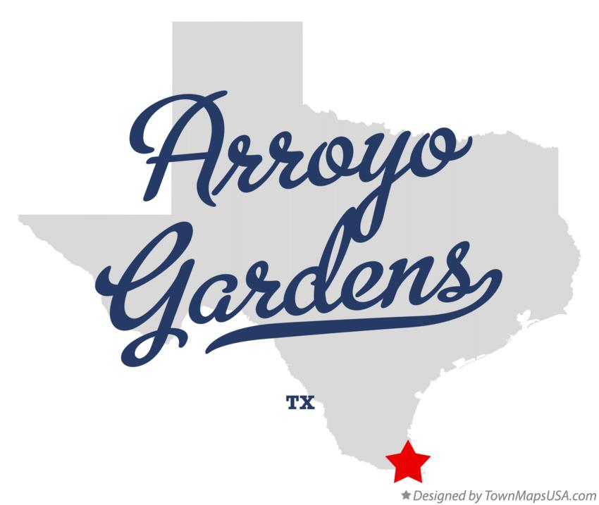 Map of Arroyo Gardens Texas TX