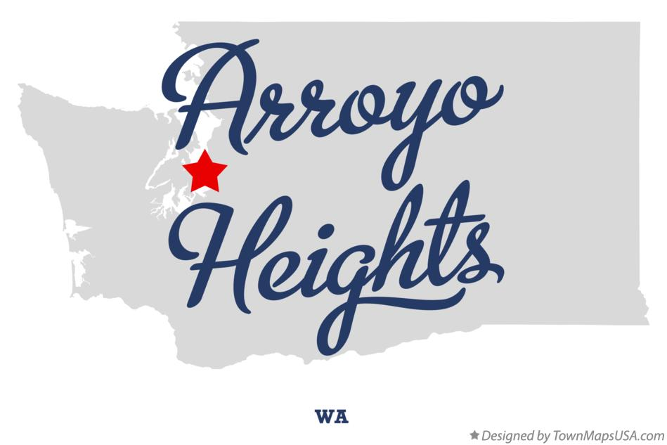Map of Arroyo Heights Washington WA