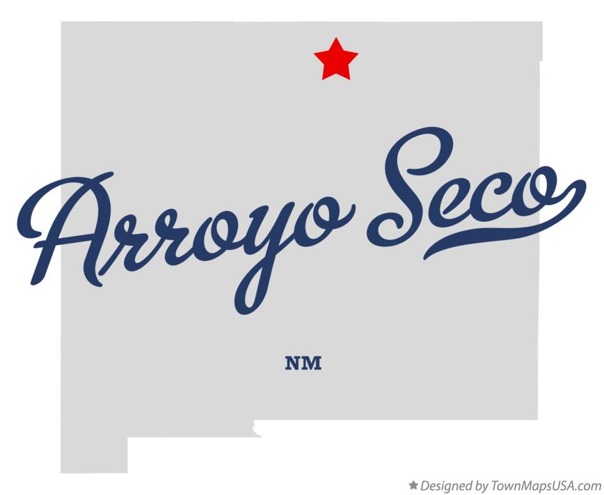 Map of Arroyo Seco New Mexico NM
