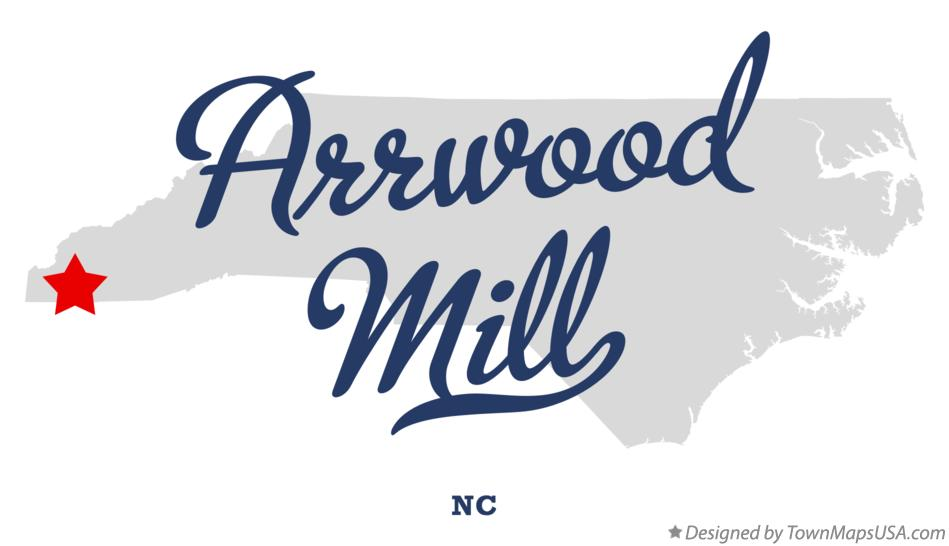 Map of Arrwood Mill North Carolina NC