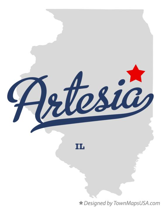 Map of Artesia Illinois IL
