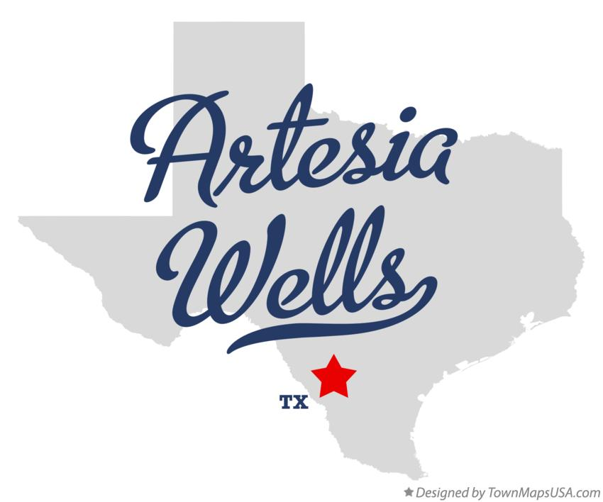Map of Artesia Wells Texas TX