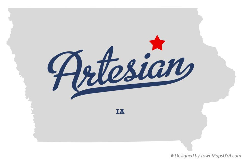 Map of Artesian Iowa IA