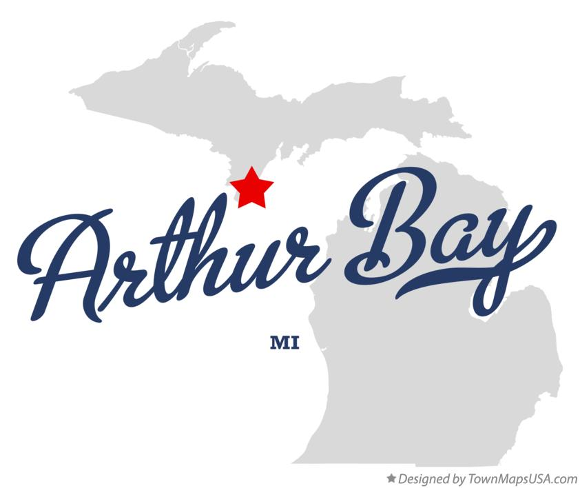 Map of Arthur Bay Michigan MI