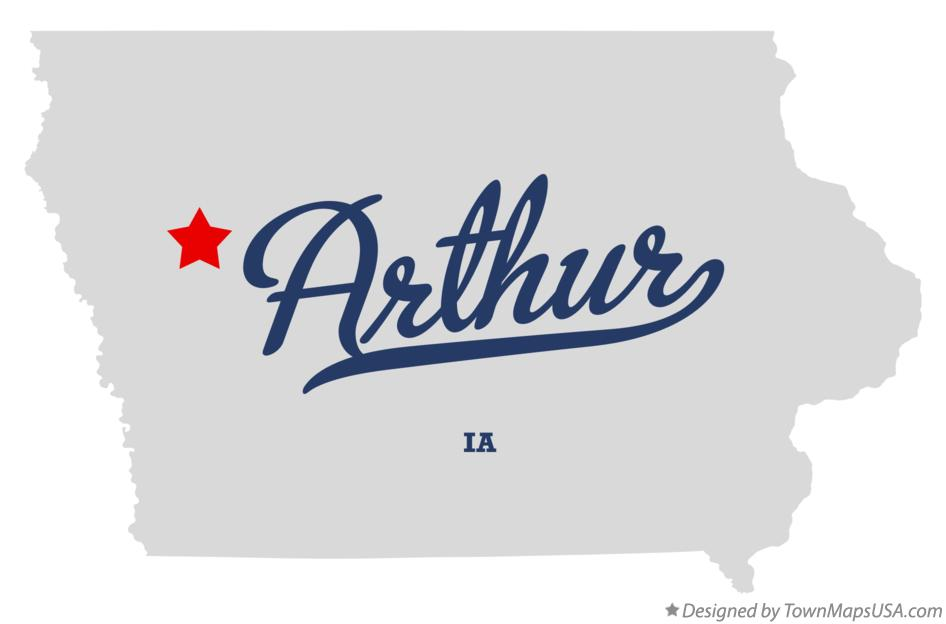 Map of Arthur Iowa IA