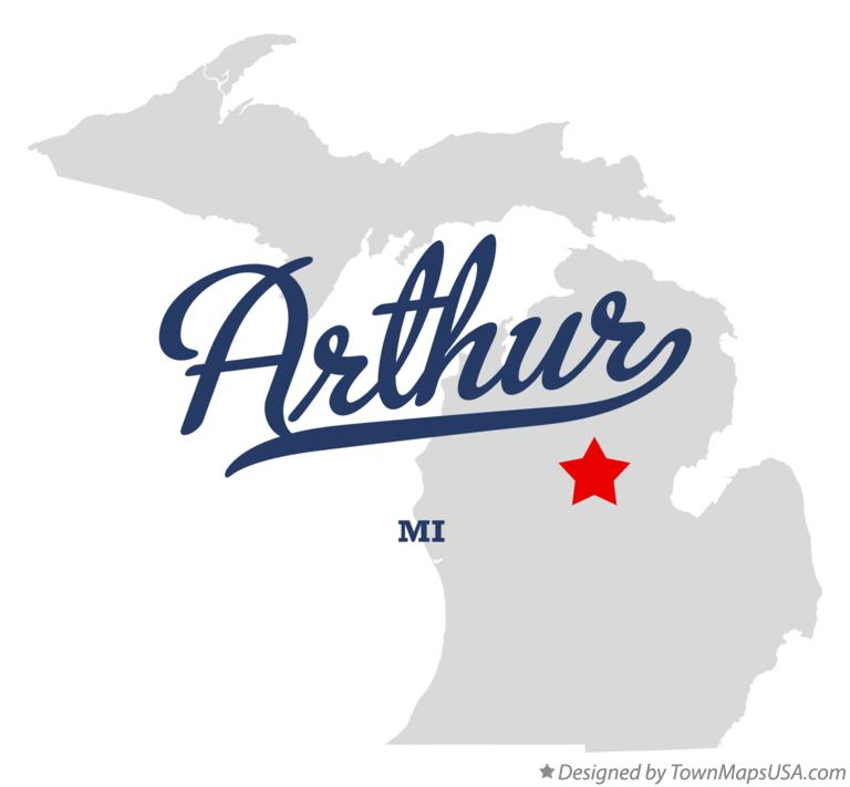 Map of Arthur Michigan MI