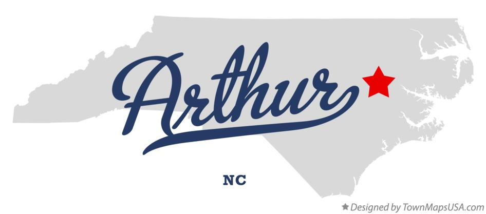 Map of Arthur North Carolina NC