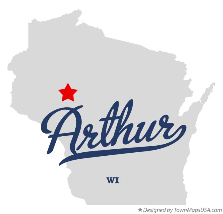 Map of Arthur Wisconsin WI