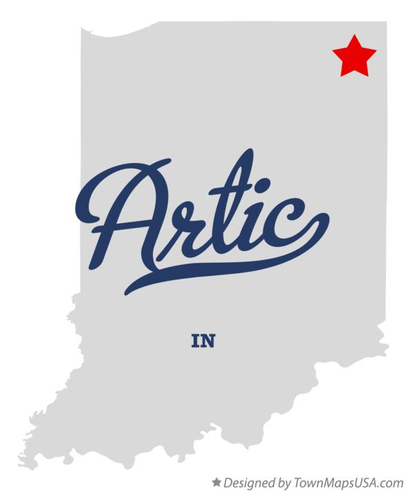 Map of Artic Indiana IN