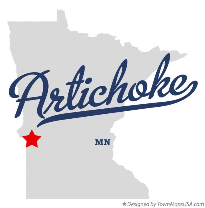 Map of Artichoke Minnesota MN