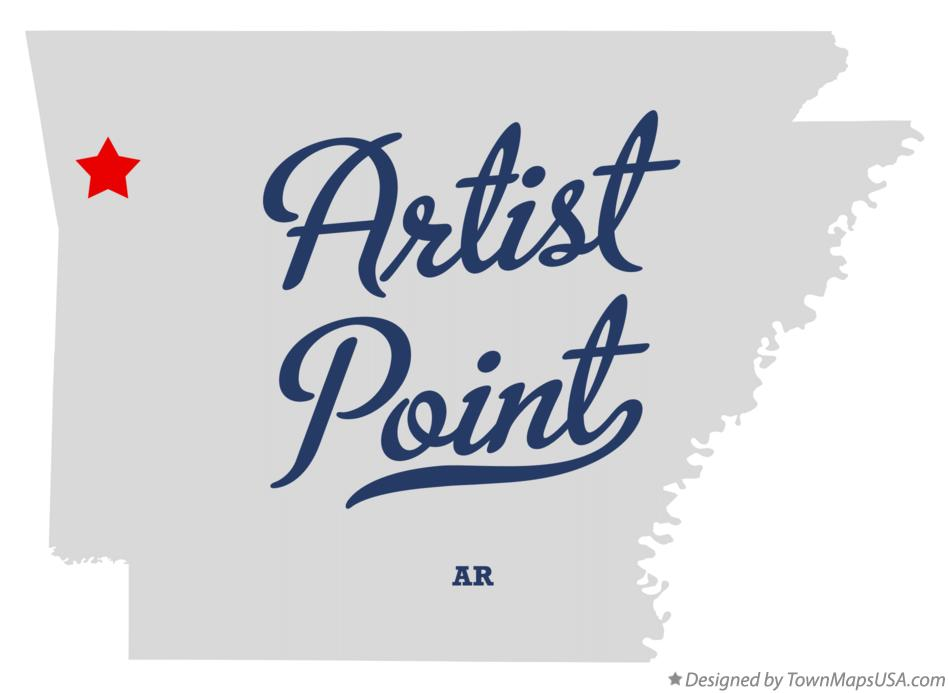 Map of Artist Point Arkansas AR