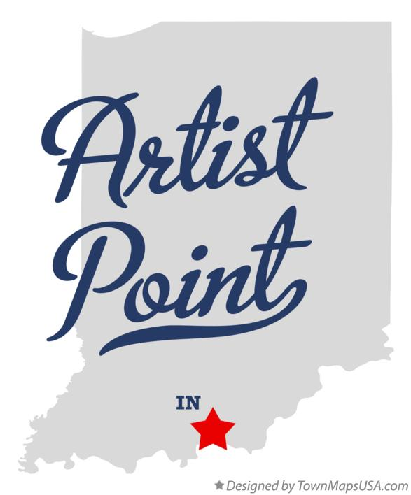 Map of Artist Point Indiana IN