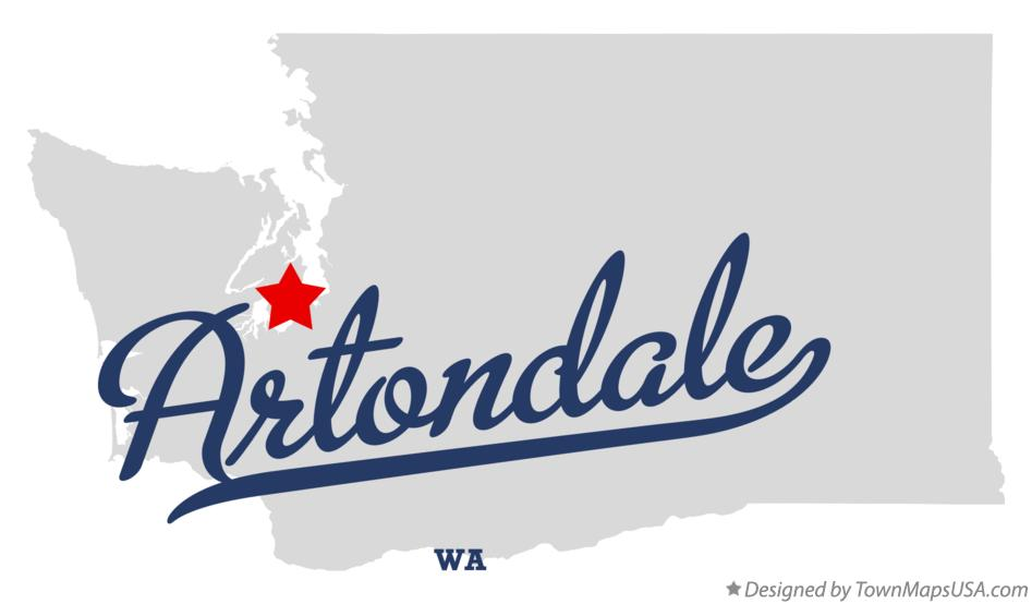 Map of Artondale Washington WA