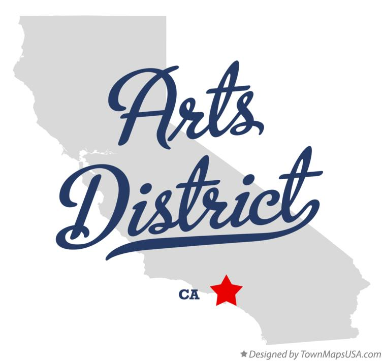 Map of Arts District California CA