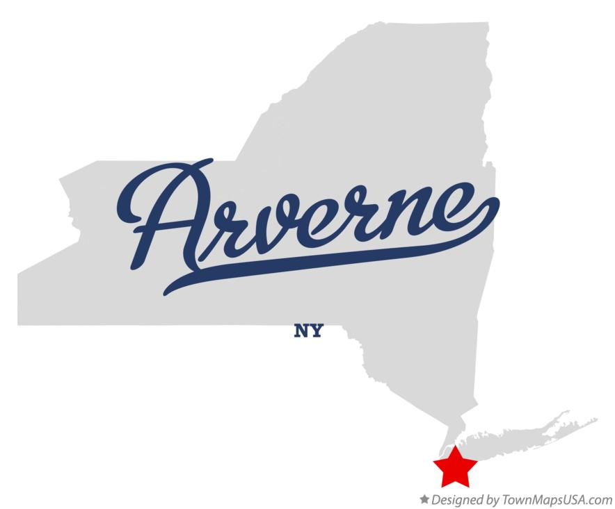 Map of Arverne New York NY