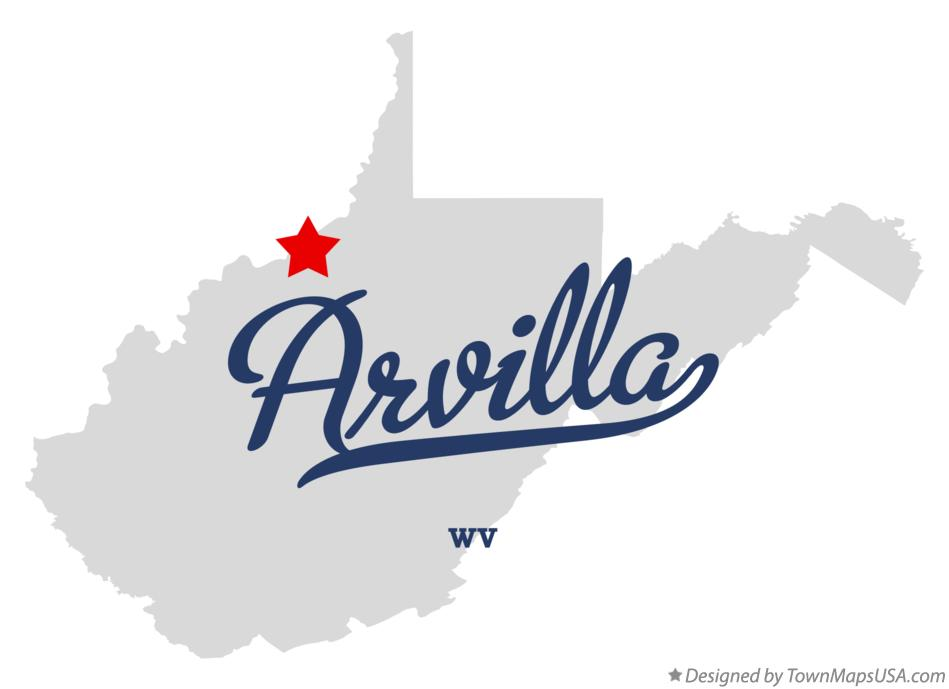 Map of Arvilla West Virginia WV