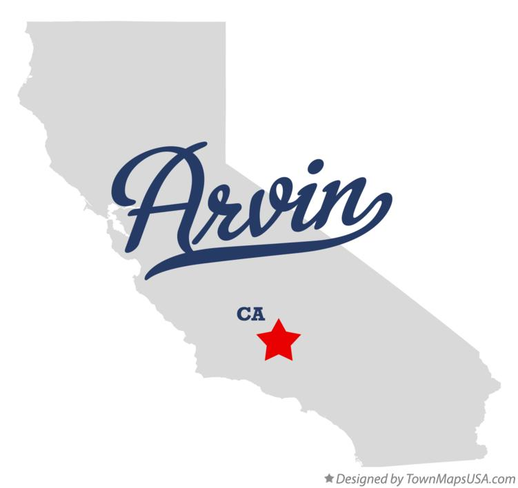 Map of Arvin California CA