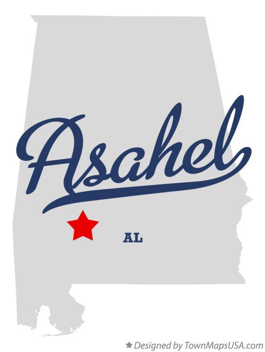 Map of Asahel Alabama AL