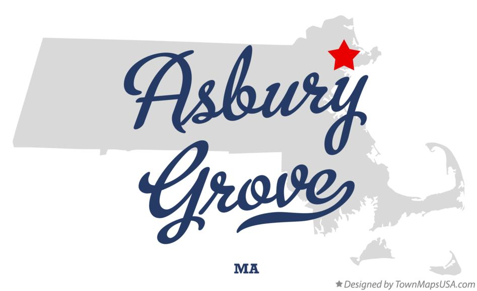 Map of Asbury Grove Massachusetts MA