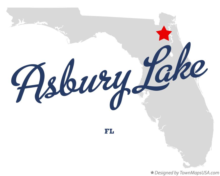 Map of Asbury Lake Florida FL