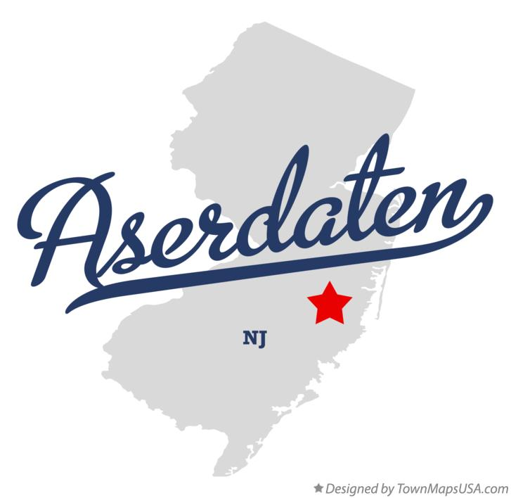 Map of Aserdaten New Jersey NJ