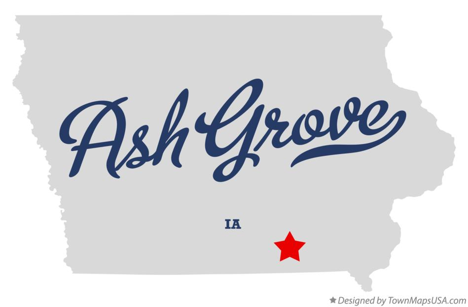 Map of Ash Grove Iowa IA