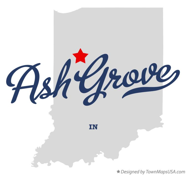 Map of Ash Grove Indiana IN