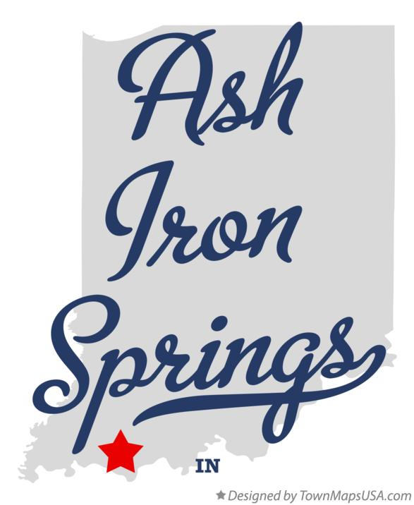 Map of Ash Iron Springs Indiana IN