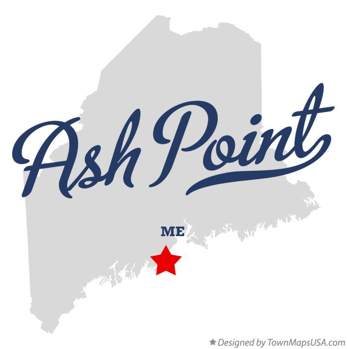 Map of Ash Point Maine ME