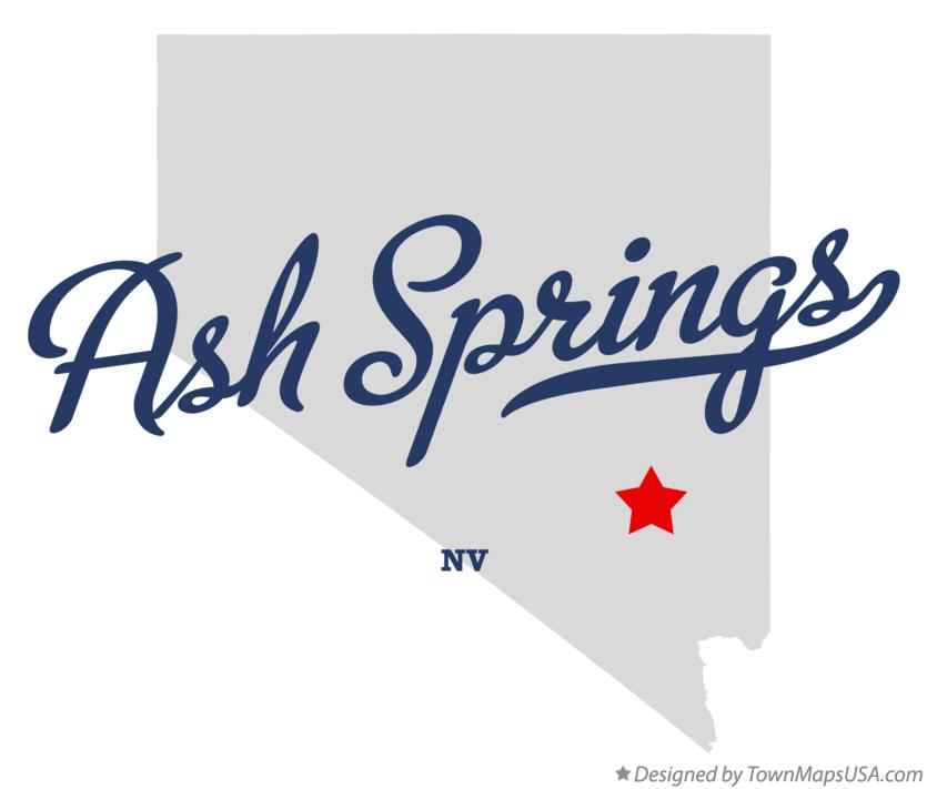Map of Ash Springs Nevada NV