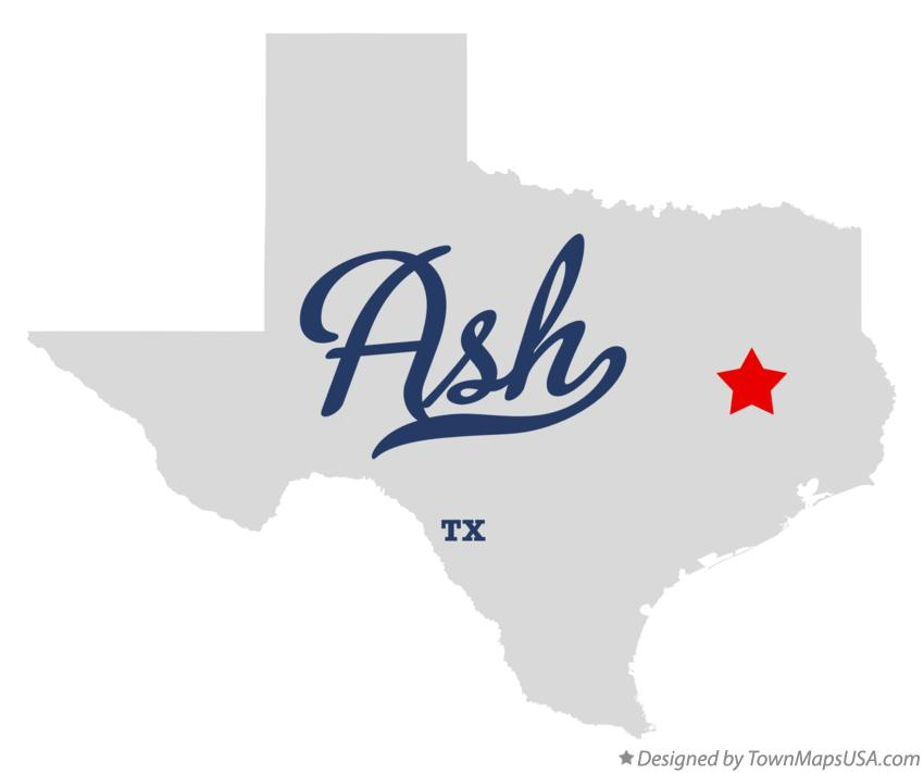 Map of Ash Texas TX