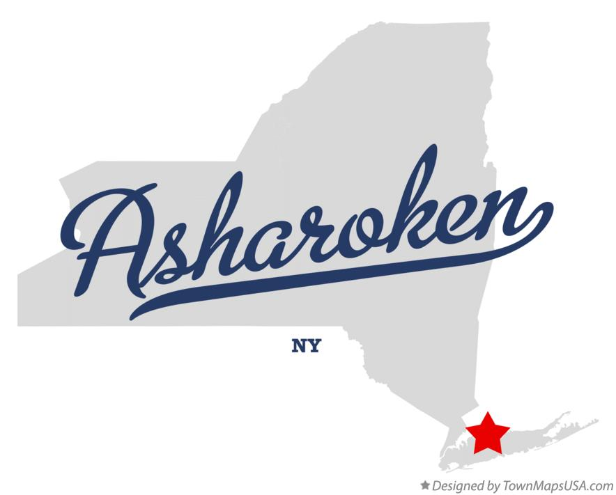 Map of Asharoken New York NY