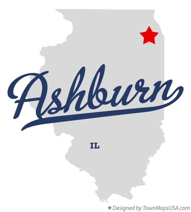 Map of Ashburn Illinois IL