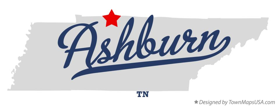 Map of Ashburn Tennessee TN