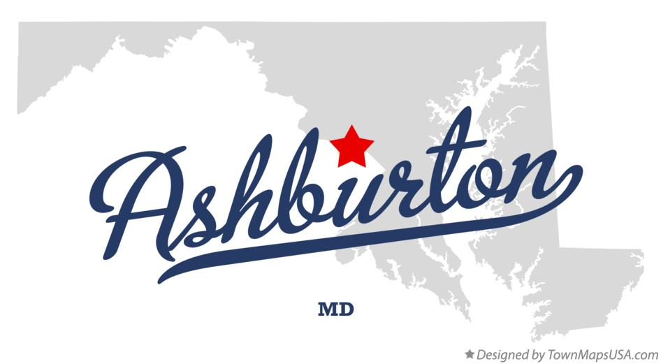 Map of Ashburton Maryland MD