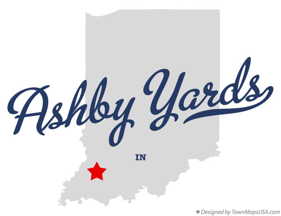 Map of Ashby Yards Indiana IN