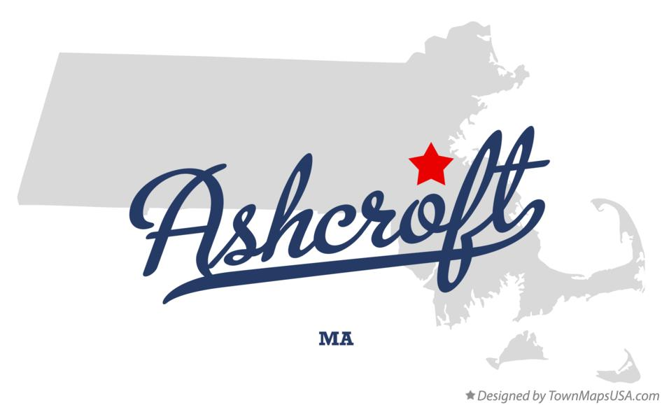 Map of Ashcroft Massachusetts MA