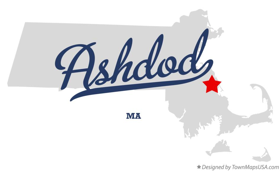 Map of Ashdod Massachusetts MA