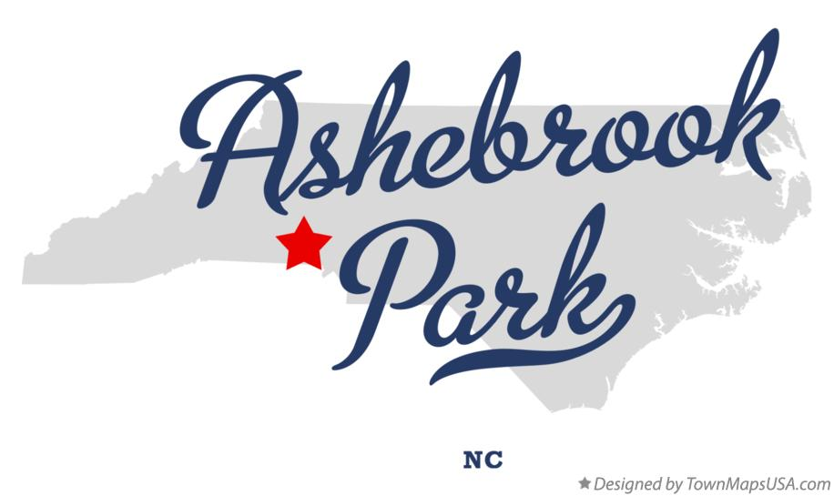 Map of Ashebrook Park North Carolina NC