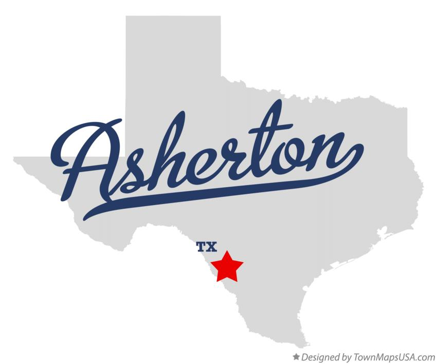 Map of Asherton Texas TX