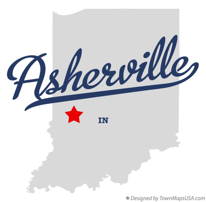 Map of Asherville Indiana IN
