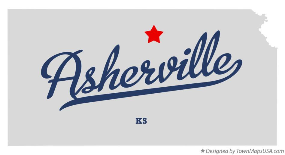 Map of Asherville Kansas KS