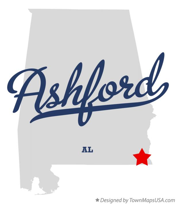 Map of Ashford Alabama AL