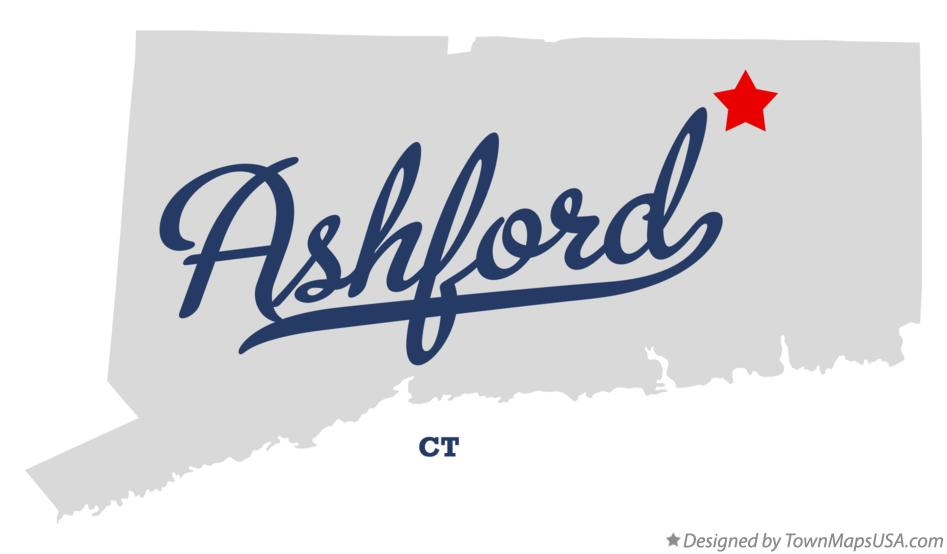 Map of Ashford Connecticut CT
