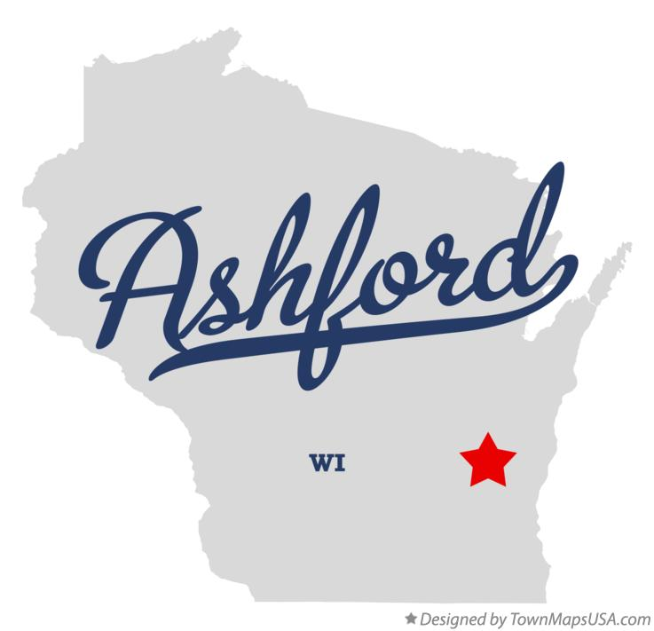 Map of Ashford Wisconsin WI
