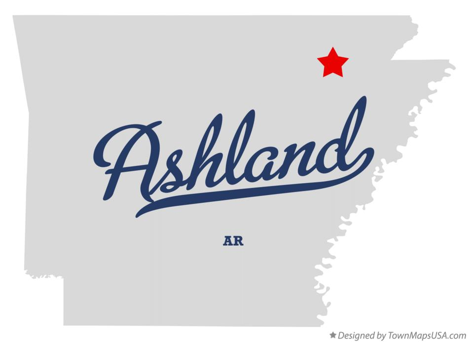 Map of Ashland Arkansas AR
