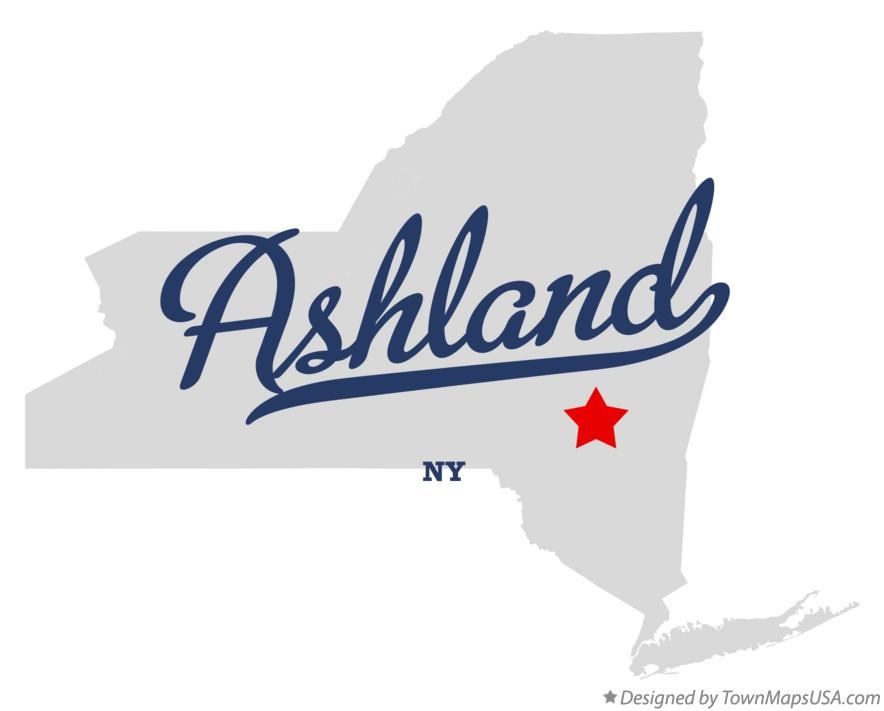 Map of Ashland New York NY